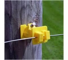 10 Pk New Fi Shock Electric Fence Insulator Black Corner Post Donut Isp Paris
