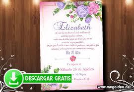 Invitacion Para 20 Anos Flores Gratis Mega Idea
