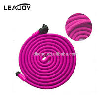 pink 75ft rubber water garden hose with
