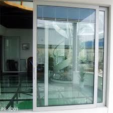 aluminum sliding door with electric