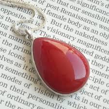 red c pendant c silver