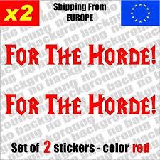 Set Of 2 Horde World Of Warcraft Logo Vinyl Decal Sticker Aufkleber Die Cut Ebay