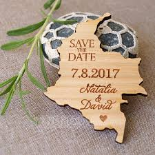 personalized wooden save the date
