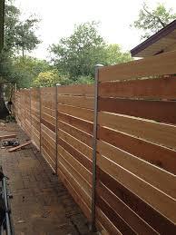 Custom Wood Fence Austin Tx Horizontal Cedar Picket Fences Sierra Fence Inc