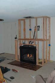 diy gas fireplace surround modern