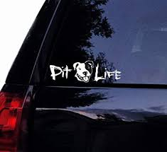 Amazon Com Tshirt Rocket Smiley Pit Life Decal Cute Pitbull Pit Bull Dog Terrier Vinyl Car Decal Laptop Decal Car Window Wall Sticker 6 Automotive