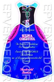 Invitacion Del Vestido De Frozen Tarjetas De Invitacion Frozen