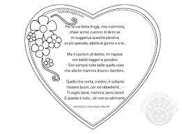 Poesia per la Festa della Mamma con cuore - TuttoDisegni.com