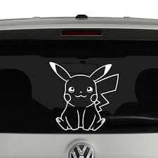 Pikachu Pokemon Vinyl Decal Sticker