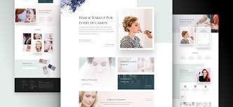 makeup artist layout pack for divi