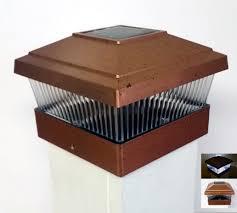 Garden Sun Light Solar Powered 5x5 Outdoor Post Cap Copper Walmart Com Walmart Com