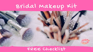 bridal makeup kit checklist