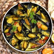 Caribbean Coconut Mussel Curry - GypsyPlate