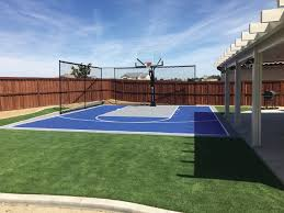 Backyard Basketball With Containment Netting American Traditional Garden Other By Courts And Greens