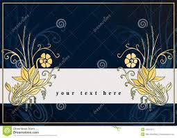 Tarjeta De Felicitaciones Con Las Flores De Oro Ilustracion Del