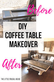 diy coffee table makeover the little