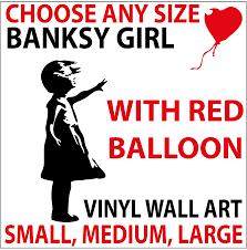 Laptop Decals Gift Banksy Girl Balloon Decor Vinyl Stickers Wall Car Window Home Garden Children S Bedroom Child Decor Decals Stickers Vinyl Art Chargiran Com