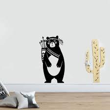Tribal Bear Wall Sticker For Childrens Bedroom Gallery Wallrus Free Worldwide Shipping