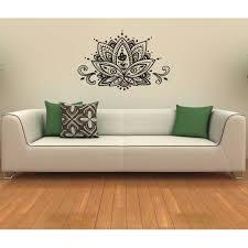 Shop Lotus Flower Vinyl Wall Decal Overstock 8441691