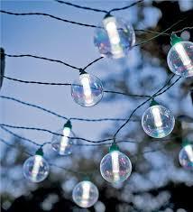 solar powered globe string lights for