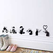 Banksy Vanity Vinyl Wall Sticker By Mirrorin Notonthehighstreetcom Independence