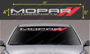 For Mopar Motorsport Windshield Vinyl Decal Sticker Car Styling Car Stickers Aliexpress