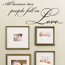 All Because Two People Fell In Love Wall Sticker Decals