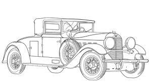 Ouderwetse Auto Kleurplaat Gratis Kleurplaten Printen