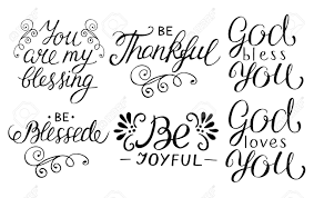 hand lettering quotes be thankful joyful blessed god loves