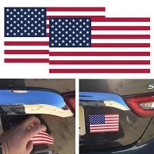 1pcs Usa American Flag Sticker Car Suv Bumper Badge Car Decal Decor American Flag Sticker Car Decals Car Stickers