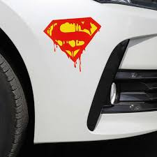 Car Stickers Superman Blooding Cartoon Funny Dc Justice League Creative Decoration For Trunk Windshield Auto Tuning Styling D30 Car Stickers Aliexpress