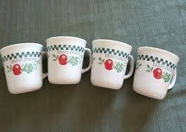mugs cups homemade apples jelly