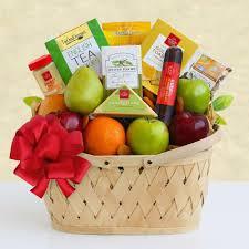 fresh holiday fruit cheese gift basket