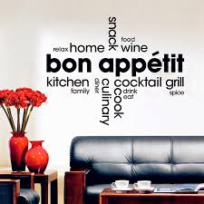 Removable Vinyl Wall Stickers Decorative Kitchen French Kitchen Wall Art Mural Kitchen Wall Decor French Quotes Decals Buy At The Price Of 8 98 In Aliexpress Com Imall Com