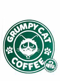 Diy Grumpy Cat Coffee Vinyl Decal Choose Vinyl Color Choose Etsy Grumpy Cat Laptop Decal Vinyl