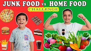 JUNK FOOD vs HOME FOOD Challenge | #Funny Healthy Eating Moral ...
