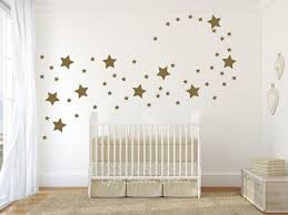 Gold Star Wall Decals Baby Girl Room Girl Room Star Wall Decals