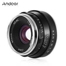 andoer 25mm f1 8 manual focus lens