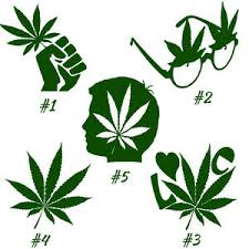 Pot Leaf Decal Vinyl Decal Sticker Car Window Wall 420 Cannabis Marijuana Weed Ebay