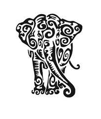 Tribal Elephant Vinyl Decal Sticker Yeti Vinyl Decal Macbook Etsy