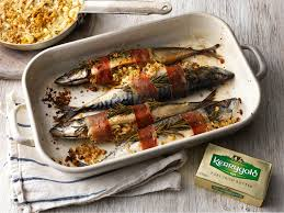Baked mackerel with pancetta Recipe ...