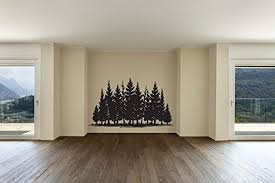 Amazon Com Pine Tree Forest Silhouette Vinyl Home Decor Wall Decal Sticker Handmade