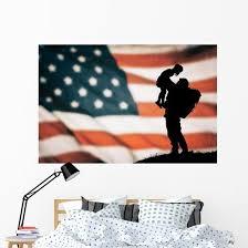 American Soldier American Flag Wall Decal Wallmonkeys Com