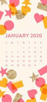 january 2020 confetti calendar