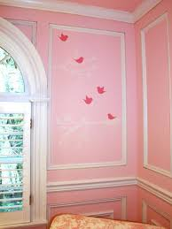 Pink Girl S Nursery With Bird Wall Art And Picture Frame Moulding Hgtv