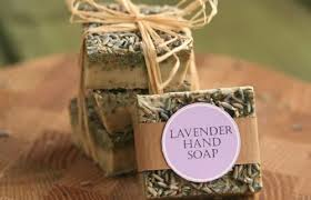 homemade soap with lavender