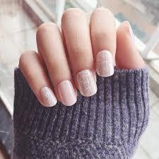 short fake nails glitter nail tips