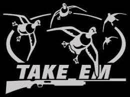 Amazon Com Take Em Duck Hunting Automotive Window Decal Pintail Duck Wall Decal Adhesive Vinyl Automotive