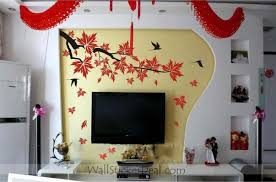 Autumn Maple Leaves And Birds Wall Stickers Home Decorating Photo 32294091 Fanpop