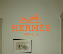 Hermes Logo Beautiful Wall Decals